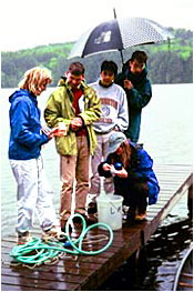 LakeNet 2000 workshop participants on Lake Iriquois field trip