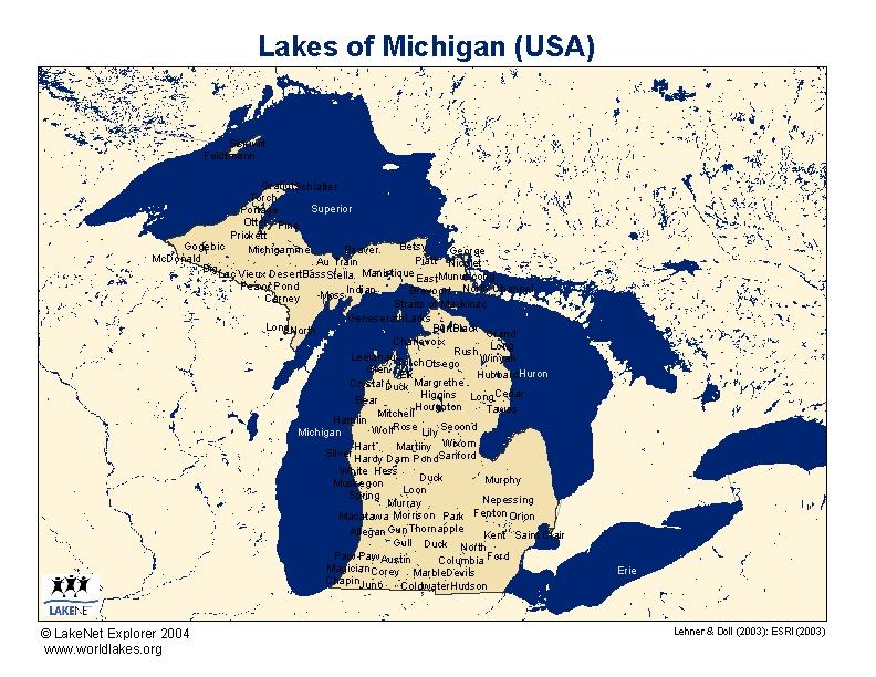 Lakes Of Michigan Map Michigan Map - Usa lake map