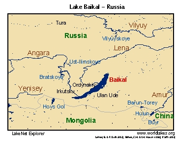 Baikal Locator Map. Ancient Lakes Of The World
