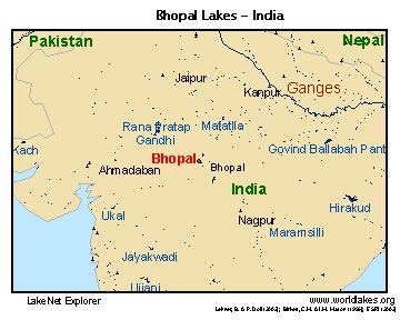 LakeNet Lakes - Lakes in india map