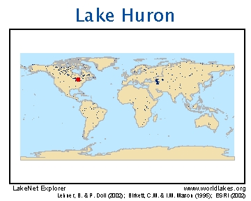 LakeNet Lakes - Lake huron on us map
