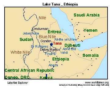 Tana Locator Map